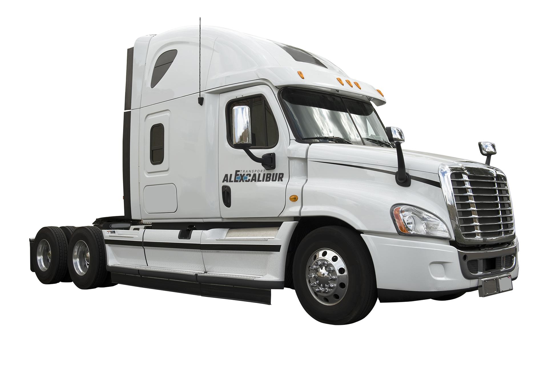 Tansport Alexcalibur à propos camion
